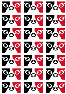 Black Country Flag Stickers - 21 per sheet